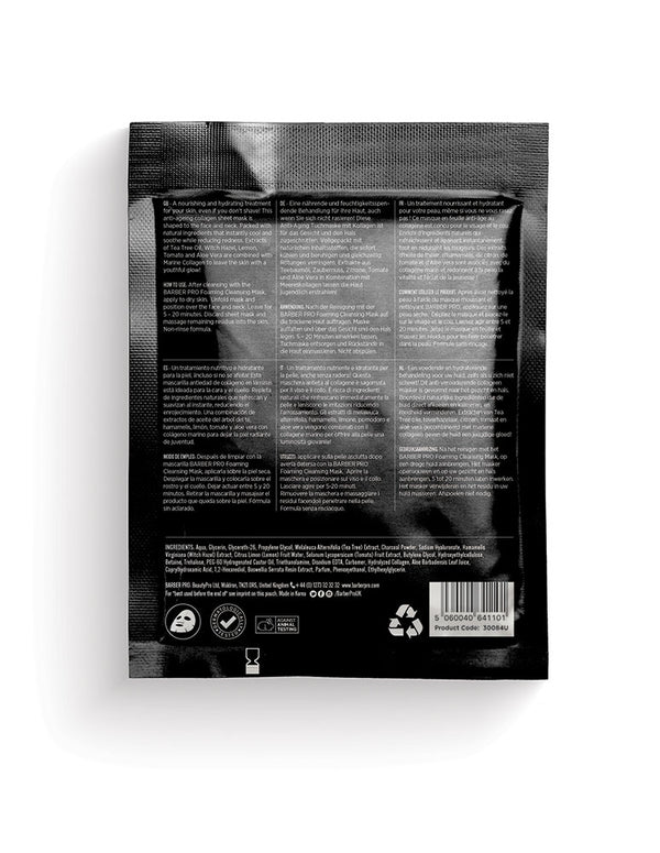Barber Pro Post Shaving Cooling Mask, 30g - MyBeautyBar.co.uk