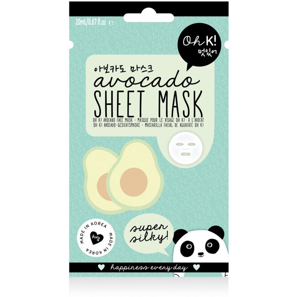 Oh K! Avocado Sheet Mask, 20ml - MyBeautyBar.co.uk