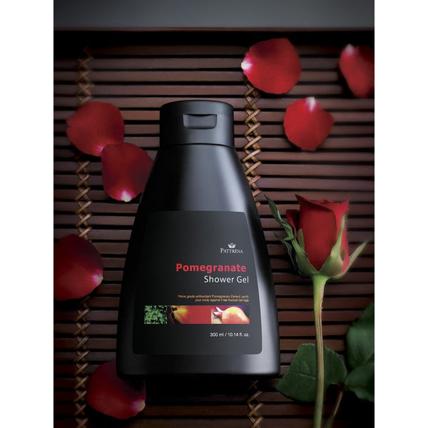 Pattrena Pomegranate Shower Gel, 300ml - MyBeautyBar.co.uk