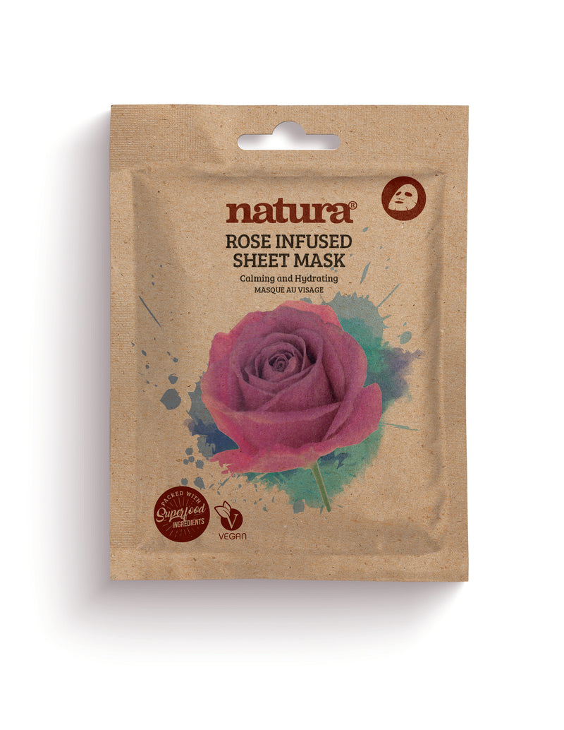 Natura Rose Infused Sheet Mask - MyBeautyBar.co.uk