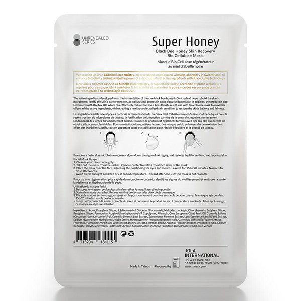 Timeless Truth Super Honey Black Bee Honey Skin Recovery Bio Cellulose Mask