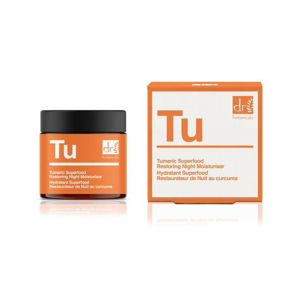 Dr Botanicals Turmeric Superfood Restoring Night Moisturiser, 50ml - MyBeautyBar.co.uk
