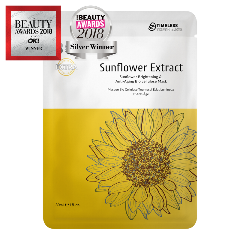 Timeless Truth Sunflower Brightening & Anti-Ageing Bio-Cellulose Mask - MyBeautyBar.co.uk