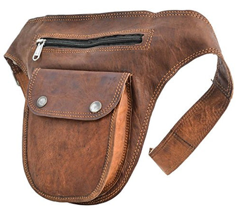 "Leather Bumbag Gusti Leder nature ""Don"" Belt Pouch"