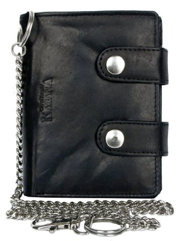 Men's Biker's Wallet Kabana with 45 Cm Long Metal Chain