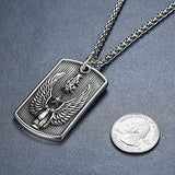 Men's Stainless Steel Heavy Wing Grenade Biker Pendant