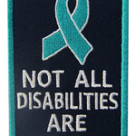 Not All Disabilities are Visible Vests/Harnesses Service Dog Emblem
