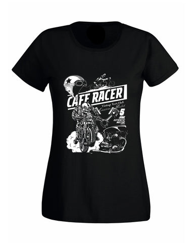 Retro classic Cafe Racer Biker Lady Fit T-Shirt