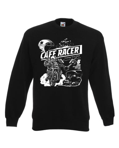 Retro Classic Cafe Racer Biker Sweat Shirt