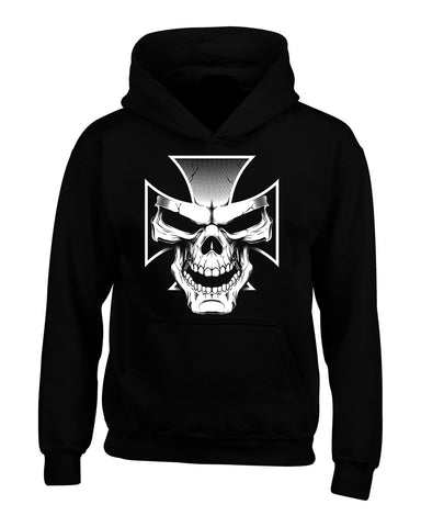 Copy of Skull And Cross Biker Hoodie