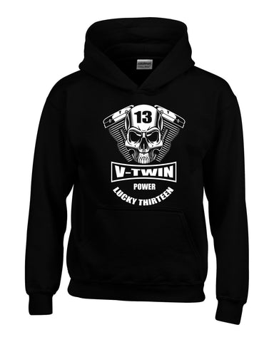V-Twin Power Biker Hoodie by Lucky Thirteen