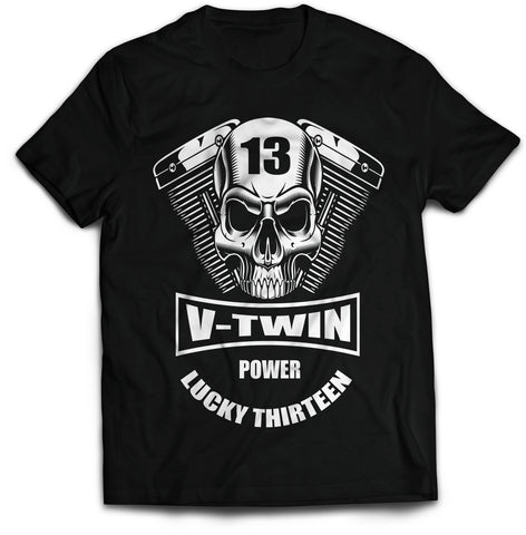 V-Twin Power Biker T-Shirt