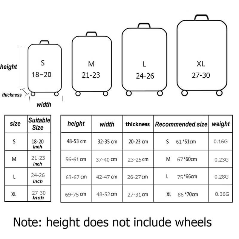 basic cover size chart