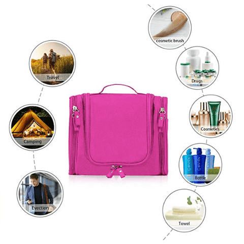 Hanging Toiletry Bag | Makeup Cosmetic Organizer Kit | Multifunctional Travel Dopp Case