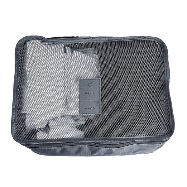 Packing Cubes  6 Piece  Travel Luggage Organizer Case Bags