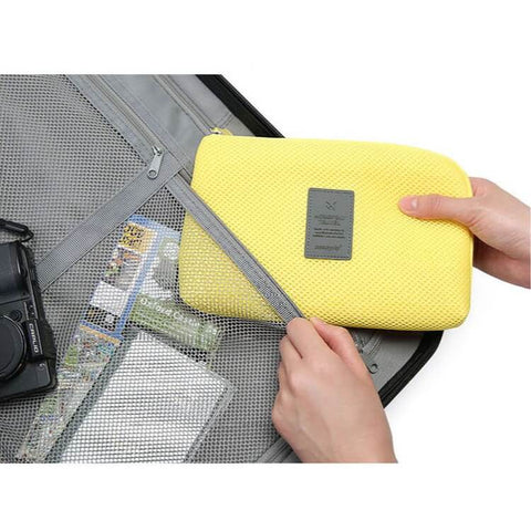 Travel Cosmetic Accessories Bag Electronics Organizer Case Toiletry Pouch