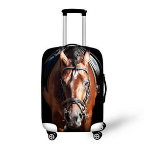 3D Horse | Premium Design | Luggage Suitcase Protective Cover - Small - Luggage Cover Encompass RL