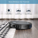 Coredy Robot Vacuum Cleaner, Fully Upgraded, Boundary Strip Supported, 360° Smart Sensor Protection, 1400pa Max Suction, Super Quiet, Self-Charge Robotic Vacuum, Cleans Pet Fur, Hard Floor to Carpet