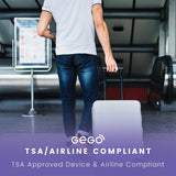 GEGO Luggage Tracker - Worldwide Real Time Tracking Device - Travel Baggage GSM Locator (Better Than GPS) Global 3G/Bluetooth with Mobile App (Airline Compliant) Black