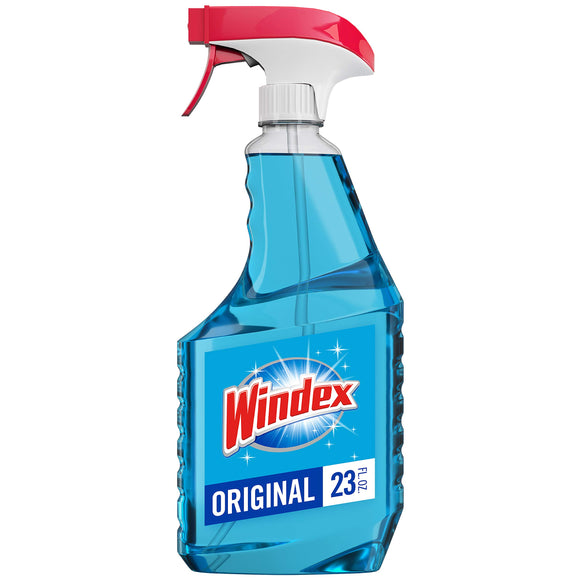 Windex Glass Cleaner Trigger Bottle, Original Blue, 23 fl oz