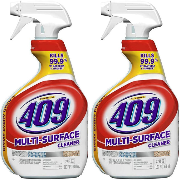 Formula 409 00628-2 Pack Antibacterial Multi Surface Cleaner, 22 Oz (Pack of 2)