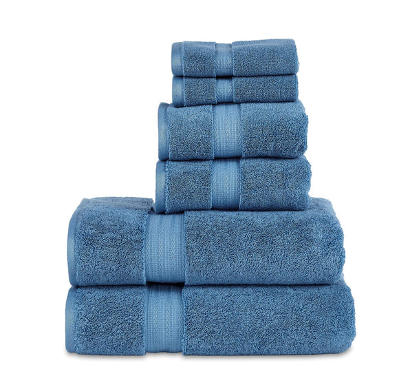 800 GSM 6 Piece Towels Set, 100% Cotton, Premium Hotel & Spa Quality, Highly Absorbent, 2 Bath 27