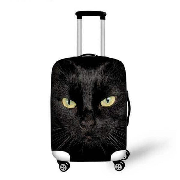 Black Cat | Premium Design | Luggage Suitcase Protective Cover - Small - Luggage Cover Encompass RL