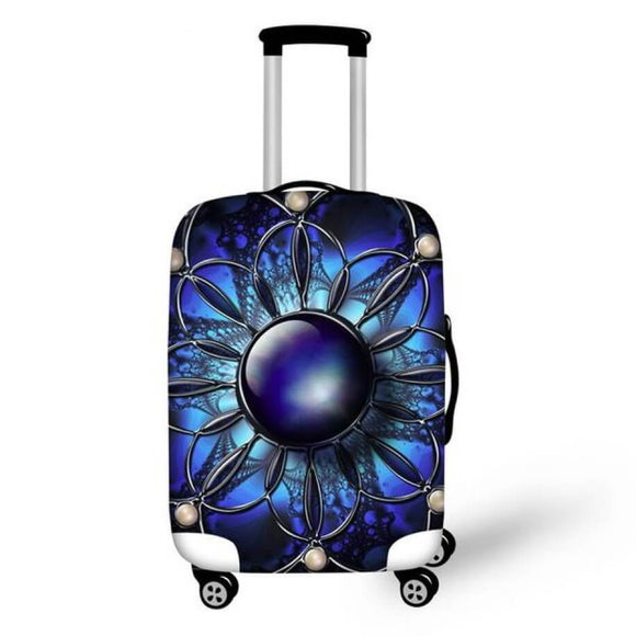 Blue Accessory | Premium Design | Luggage Suitcase Protective Cover - Small - Luggage Cover Encompass RL