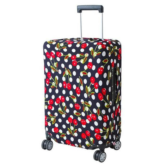 Polkadot Cherries | Basic Design | Luggage Suitcase Protective Cover - Small - Luggage Cover Encompass RL