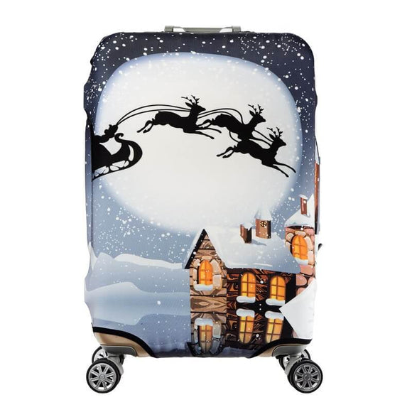 Christmas Night | Standard Design | Luggage Suitcase Protective Cover - Small - Luggage Cover Encompass RL