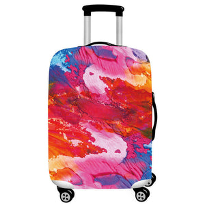 Acrylic Paint Colors | Standard Design | Luggage Suitcase Protective Cover - Small - Luggage Cover Encompass RL