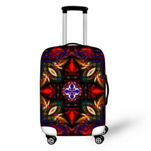 Colorful Abstract Design 1 | Premium Design | Luggage Suitcase Protective Cover - Small - Luggage Cover Encompass RL
