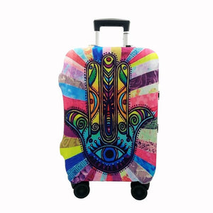 Hamsa Hand | Standard Design | Luggage Suitcase Protective Cover - Small - Luggage Cover Encompass RL