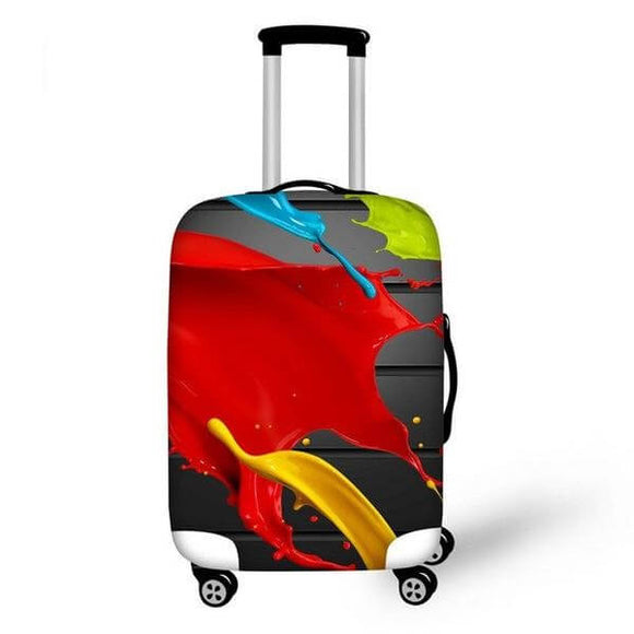 Colorful Paint | Premium Design | Luggage Suitcase Protective Cover - Small - Luggage Cover Encompass RL