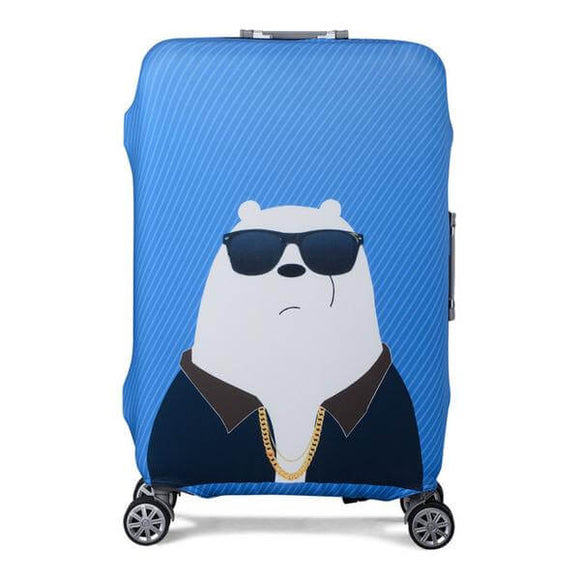 Cool Polar Bear | Standard Design | Luggage Suitcase Protective Cover - Small - Luggage Cover Encompass RL