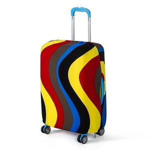 Dark Ripples | Basic Design | Luggage Suitcase Protective Cover - Small - Luggage Cover Encompass RL