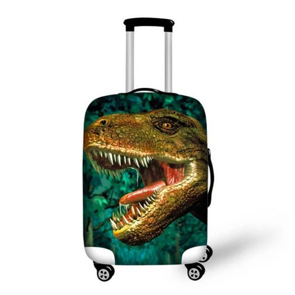 Dinosaur Green | Premium Design | Luggage Suitcase Protective Cover - Small - Luggage Cover Encompass RL