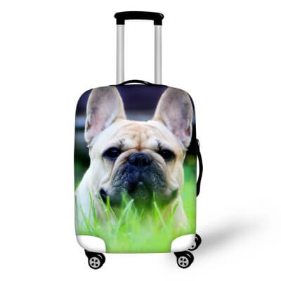 Pug Dog #4 | Premium Design | Luggage Suitcase Protective Cover - Small - Luggage Cover Encompass RL
