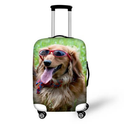 Golden Retriever Dog #2 | Premium Design | Luggage Suitcase Protective Cover - Small - Luggage Cover Encompass RL