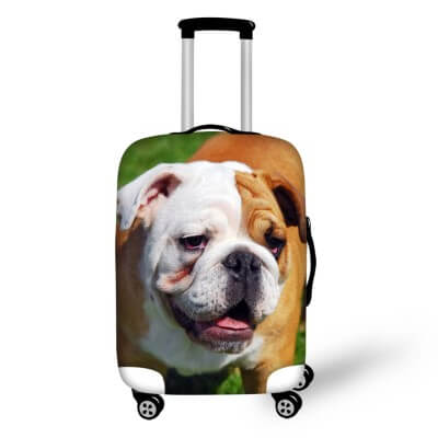 Bulldog #3 | Premium Design | Luggage Suitcase Protective Cover - Small - Luggage Cover Encompass RL