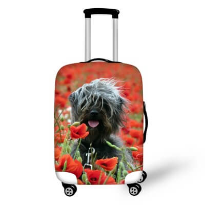 Terrier Dog #4 | Premium Design | Luggage Suitcase Protective Cover - Small - Luggage Cover Encompass RL