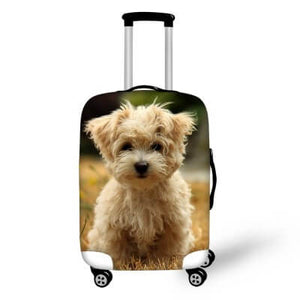 Terrier Dog #2 | Premium Design | Luggage Suitcase Protective Cover - Small - Luggage Cover Encompass RL