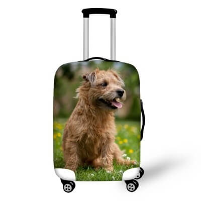 Terrier Dog #3 | Premium Design | Luggage Suitcase Protective Cover - Small - Luggage Cover Encompass RL