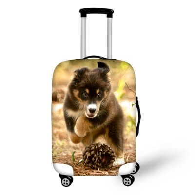 Husky Puppy #1 | Premium Design | Luggage Suitcase Protective Cover - Small - Luggage Cover Encompass RL