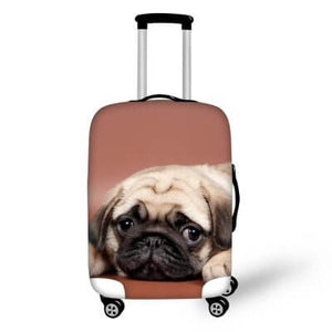Pug Dog #3 | Premium Design | Luggage Suitcase Protective Cover - Small - Luggage Cover Encompass RL