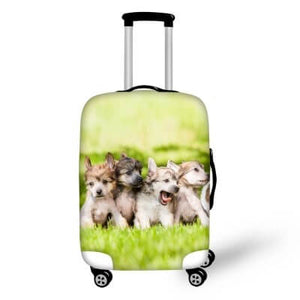 Terrier Puppies #1 | Premium Design | Luggage Suitcase Protective Cover - Small - Luggage Cover Encompass RL