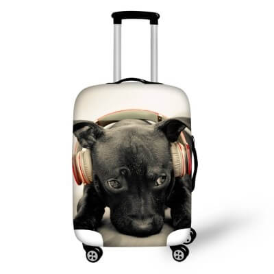 Pitbull Dog #2 | Premium Design | Luggage Suitcase Protective Cover - Small - Luggage Cover Encompass RL