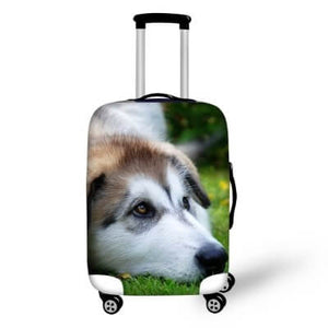 Husky Dog #2 | Premium Design | Luggage Suitcase Protective Cover - Small - Luggage Cover Encompass RL