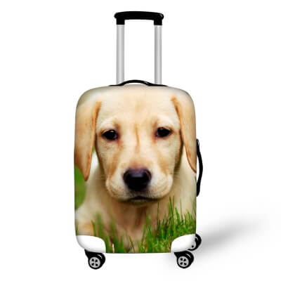 Labrador Dog #3 | Premium Design | Luggage Suitcase Protective Cover - Small - Luggage Cover Encompass RL