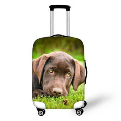 Labrador Dog #1 | Premium Design | Luggage Suitcase Protective Cover - Small - Luggage Cover Encompass RL
